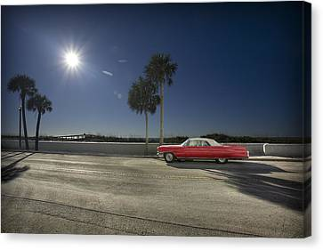 The Red Cadillac Canvas Print
