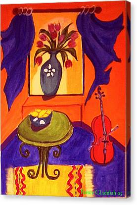 The Red Cello Canvas Print