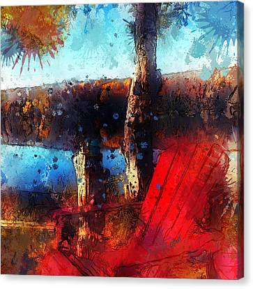 Canvas Print featuring the photograph The Red Chair by Claire Bull