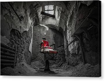 The Red Chair Canvas Print by Kristopher Schoenleber