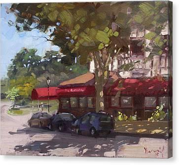 The Red Coach Inn Canvas Print by Ylli Haruni