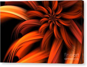 The Red Dahlia Canvas Print by John Edwards