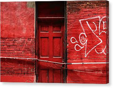 The Red Door Bar Canvas Print by Kreddible Trout
