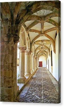 Canvas Print featuring the photograph The Red Door In The Loggia by Kirsten Giving