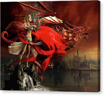 The Red Dragon Symphony Canvas Print