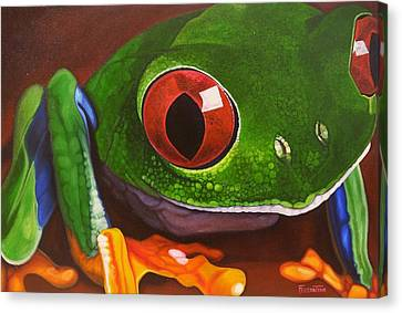 The Red Eye Canvas Print by Jon Ferrentino