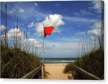The Red Flag Canvas Print by Susanne Van Hulst