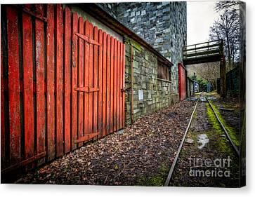 The Red Gate Canvas Print by Adrian Evans