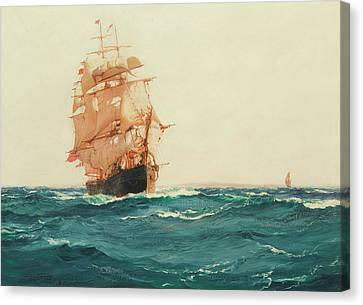 The Red Jacket Canvas Print by Montague Dawson