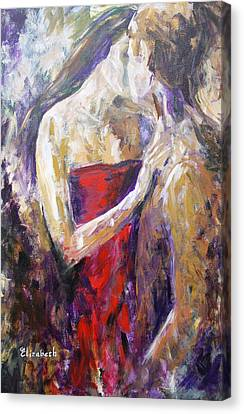 The Red Kiss Canvas Print by Beth Maddox