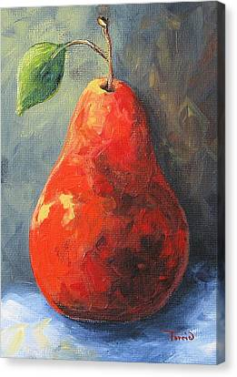 The Red Pear II  Canvas Print by Torrie Smiley