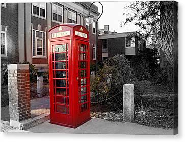 The Red Phonebooth Canvas Print by Lois Lepisto