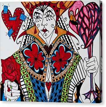 Heartbreaker Canvas Print - The Red Queen by Jani Freimann