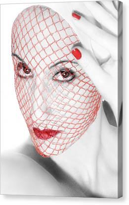 The Red Realm - Self Portrait Canvas Print by Jaeda DeWalt