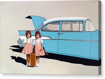 The Red Ribbon Canvas Print by Kevin Callahan