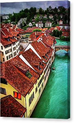 The Red Rooftops Of Bern Switzerland  Canvas Print