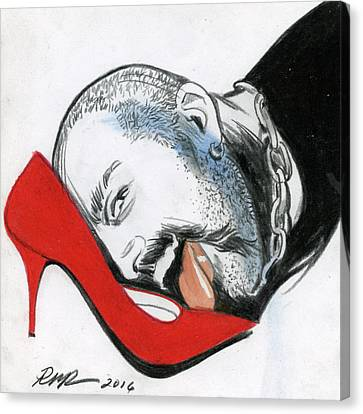 Choker Canvas Print - The Red Shoe by Robert W Richards
