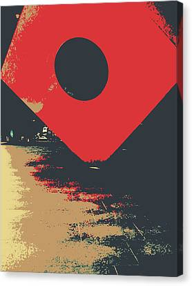 The Red Square Canvas Print by Jhoy E Meade