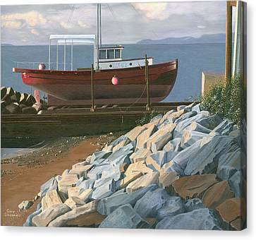 The Red Troller Revisited Canvas Print by Gary Giacomelli