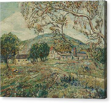 Lawson Canvas Print - The Red Turret by Ernest Lawson