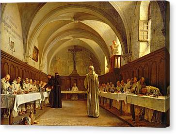 The Refectory Canvas Print by Theophile Gide