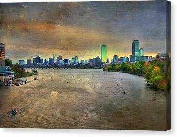 Canvas Print featuring the photograph The Regatta - Head Of The Charles - Boston by Joann Vitali