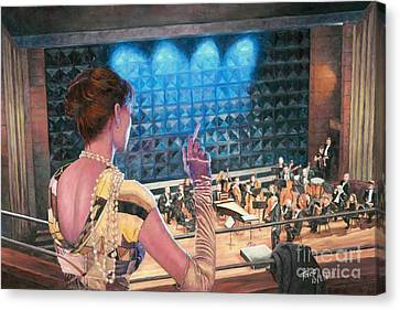 The Rehearsal Canvas Print by Theo Michael