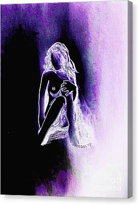 The Relaxing Woman - Purple Ecstasy  Canvas Print