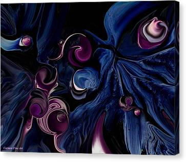 Canvas Print featuring the digital art The Religious Poetry by Carmen Fine Art