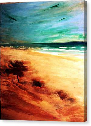 Canvas Print featuring the painting The Remaining Pine by Winsome Gunning