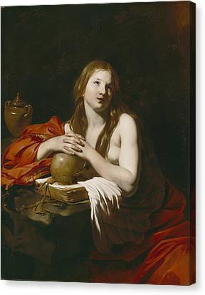 The Repentant Magdalene Canvas Print by Nicolas Regnier