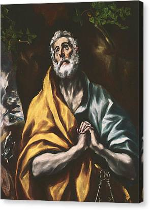 The Repentant St. Peter Canvas Print by El Greco