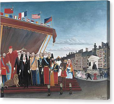 The Representatives Of Foreign Powers Coming To Greet The Republic  Canvas Print by Henri Rousseau