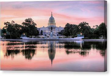 Canvas Print featuring the photograph The Republic Awakens by JC Findley