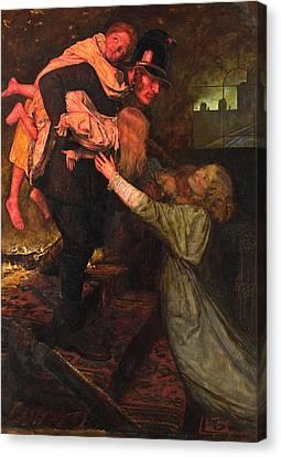 The Rescue Canvas Print by John Everett Millais