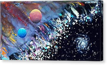 The Rescue Of Earth Canvas Print by Lee Pantas