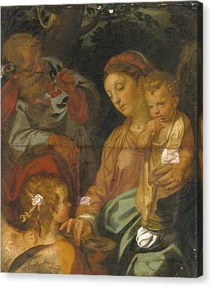 The Followers Canvas Print - The Rest On The Flight Into Egypt. The Madonna Della Pappa by Follower of Francesco Vanni
