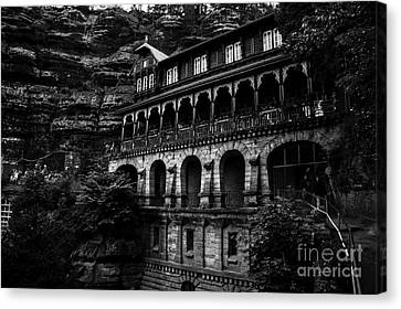 The Restaurant On The Top Of The Mountain Canvas Print
