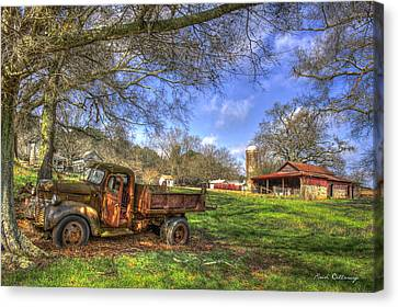The Resting Place Shadows Canvas Print by Reid Callaway