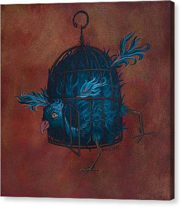 Birdcage Canvas Print - The Restrictive Nature Of Fashion  by Kelly Jade King