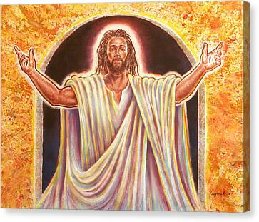 Religious Art Canvas Print - The Resurrection And The Life by Raymond Walker