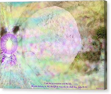 Canvas Print featuring the photograph The Resurrection Horizon Event-no Rock Could Hold Him In Garden Tomb Vision Jerusalem 2008 by Anastasia Savage Ealy