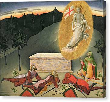 The Resurrection Canvas Print by Master of the Osservanza
