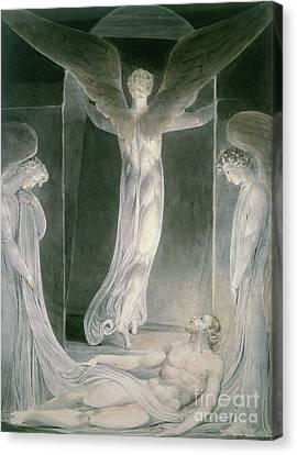 Messenger Canvas Print - The Resurrection by William Blake