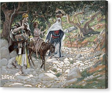 The Return From Egypt Canvas Print by Tissot