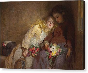 The Return Home Canvas Print by George Elgar Hicks