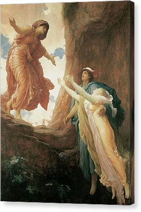 The Return Of Persephone Canvas Print by Frederick Leighton