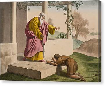 The Return Of The Prodigal Son Canvas Print by French School