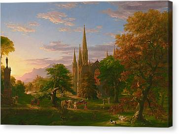 The Return Canvas Print by Thomas Cole
