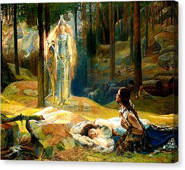 The Revelation Canvas Print by Gaston Bussiere